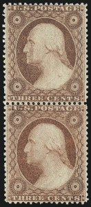 Sale Number 976, Lot Number 1217, 1c-3c 1857-60 Issue (Scott 18-26A)3c Dull Red, Ty. IV (26A), 3c Dull Red, Ty. IV (26A)