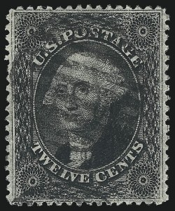 Sale Number 976, Lot Number 1264, 10c-90c 1857-60 Issue (Scott 31-39)12c Black, Plate 3 (36B), 12c Black, Plate 3 (36B)