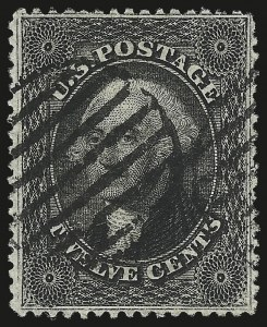 Sale Number 976, Lot Number 1265, 10c-90c 1857-60 Issue (Scott 31-39)12c Black, Plate 3 (36B), 12c Black, Plate 3 (36B)
