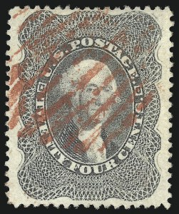 Sale Number 976, Lot Number 1267, 10c-90c 1857-60 Issue (Scott 31-39)24c Gray Lilac (37), 24c Gray Lilac (37)