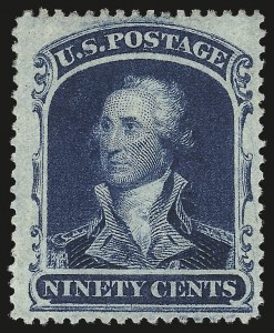Sale Number 976, Lot Number 1271, 10c-90c 1857-60 Issue (Scott 31-39)90c Blue (39), 90c Blue (39)
