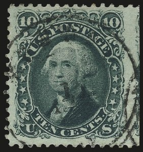 Sale Number 976, Lot Number 1327, 1861-66 Issue (Scott 68-70c)10c Yellow Green (68), 10c Yellow Green (68)