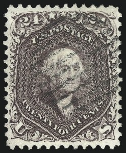 Sale Number 976, Lot Number 1334, 1861-66 Issue (Scott 68-70c)24c Red Lilac (70), 24c Red Lilac (70)