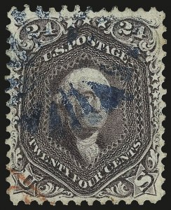 Sale Number 976, Lot Number 1336, 1861-66 Issue (Scott 68-70c)24c Red Lilac (70), 24c Red Lilac (70)
