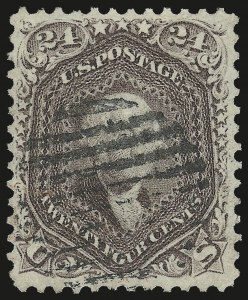 Sale Number 976, Lot Number 1338, 1861-66 Issue (Scott 68-70c)24c Red Lilac (70), 24c Red Lilac (70)