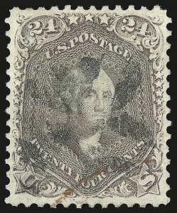 Sale Number 976, Lot Number 1341, 1861-66 Issue (Scott 68-70c)24c Brown Lilac (70a), 24c Brown Lilac (70a)