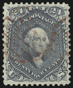 Sale Number 976, Lot Number 1343, 1861-66 Issue (Scott 68-70c)24c Steel Blue (70b), 24c Steel Blue (70b)