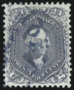 Sale Number 976, Lot Number 1344, 1861-66 Issue (Scott 68-70c)24c Steel Blue (70b), 24c Steel Blue (70b)
