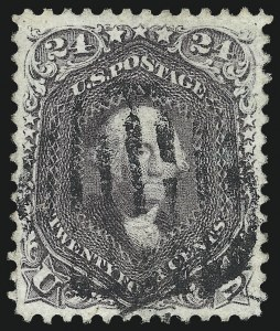 Sale Number 976, Lot Number 1346, 1861-66 Issue (Scott 68-70c)24c Violet, Thin Paper (70c), 24c Violet, Thin Paper (70c)