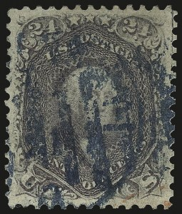 Sale Number 976, Lot Number 1347, 1861-66 Issue (Scott 68-70c)24c Violet, Thin Paper (70c), 24c Violet, Thin Paper (70c)