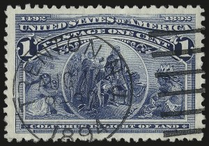 Sale Number 976, Lot Number 1671, 1893 Columbian Issue (1c thru 8c, Scott 230-236)1c Columbian (230), 1c Columbian (230)