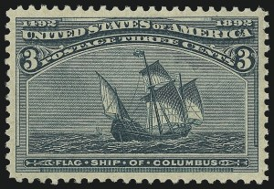 Sale Number 976, Lot Number 1674, 1893 Columbian Issue (1c thru 8c, Scott 230-236)3c Columbian (232), 3c Columbian (232)