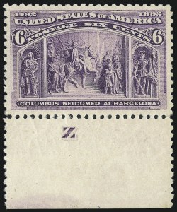 Sale Number 976, Lot Number 1683, 1893 Columbian Issue (1c thru 8c, Scott 230-236)6c Columbian (235), 6c Columbian (235)
