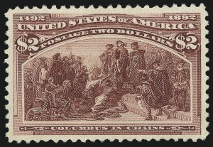Sale Number 976, Lot Number 1701, 1893 Columbian Issue ($2.00 thru $5.00, Scott 242-245)$2.00 Columbian (242), $2.00 Columbian (242)