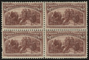 Sale Number 976, Lot Number 1702, 1893 Columbian Issue ($2.00 thru $5.00, Scott 242-245)$2.00 Columbian (242), $2.00 Columbian (242)
