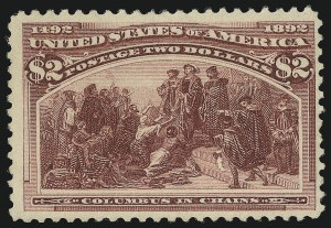 Sale Number 976, Lot Number 1703, 1893 Columbian Issue ($2.00 thru $5.00, Scott 242-245)$2.00 Columbian (242), $2.00 Columbian (242)