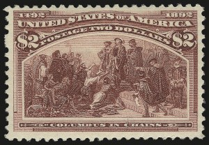Sale Number 976, Lot Number 1704, 1893 Columbian Issue ($2.00 thru $5.00, Scott 242-245)$2.00 Columbian (242), $2.00 Columbian (242)
