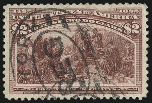 Sale Number 976, Lot Number 1705, 1893 Columbian Issue ($2.00 thru $5.00, Scott 242-245)$2.00 Columbian (242), $2.00 Columbian (242)