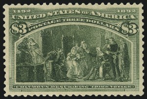 Sale Number 976, Lot Number 1707, 1893 Columbian Issue ($2.00 thru $5.00, Scott 242-245)$3.00 Columbian (243), $3.00 Columbian (243)