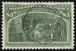 Sale Number 976, Lot Number 1713, 1893 Columbian Issue ($2.00 thru $5.00, Scott 242-245)$3.00 Columbian (243), $3.00 Columbian (243)