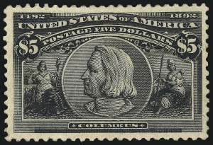 Sale Number 976, Lot Number 1723, 1893 Columbian Issue ($2.00 thru $5.00, Scott 242-245)$5.00 Columbian (245), $5.00 Columbian (245)