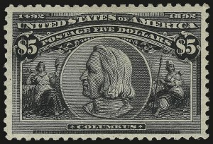 Sale Number 976, Lot Number 1724, 1893 Columbian Issue ($2.00 thru $5.00, Scott 242-245)$5.00 Columbian (245), $5.00 Columbian (245)