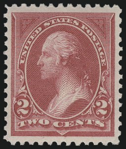 Sale Number 976, Lot Number 1728, 1894 Unwatermarked Bureau Issue (Scott 246-263)2c Carmine Lake, Ty. I (249), 2c Carmine Lake, Ty. I (249)