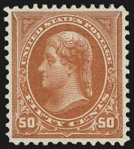 Sale Number 976, Lot Number 1740, 1894 Unwatermarked Bureau Issue (Scott 246-263)50c Orange (260), 50c Orange (260)