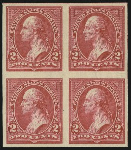 Sale Number 976, Lot Number 1763, 1895 Watermarked Bureau Issue (Scott 264-278)2c Carmine, Ty. III, Imperforate (267a), 2c Carmine, Ty. III, Imperforate (267a)