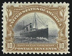 Sale Number 976, Lot Number 1844, 1901 Pan-American Issue (Scott 294-299)10c Pan-American (299), 10c Pan-American (299)