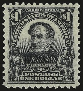 Sale Number 976, Lot Number 1874, 1902-08 Issues (Scott 300-313)$1.00 Black (311), $1.00 Black (311)