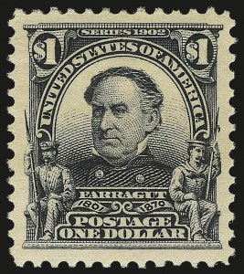 Sale Number 976, Lot Number 1877, 1902-08 Issues (Scott 300-313)$1.00 Black (311), $1.00 Black (311)