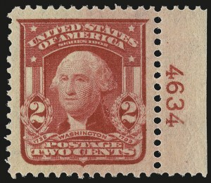 Sale Number 976, Lot Number 1899, 1902-08 Issues (Scott 314A-322)2c Carmine, Ty. I (319), 2c Carmine, Ty. I (319)