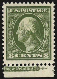 Sale Number 976, Lot Number 1965, 1910-13 Washington-Franklin Issue (Scott 374-396)8c Olive Green (380), 8c Olive Green (380)