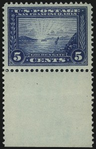 Sale Number 976, Lot Number 1981, 1913-15 Panama-Pacific Issue (Scott 397-404)5c Panama-Pacific (399), 5c Panama-Pacific (399)