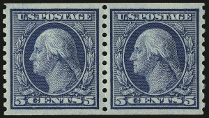 Sale Number 976, Lot Number 2042, 1913-15 Washington-Franklin Issues (Scott 424-460)5c Blue, Coil (458), 5c Blue, Coil (458)