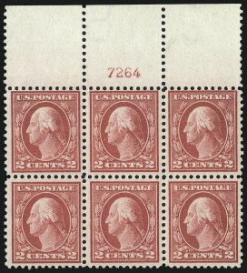 Sale Number 976, Lot Number 2052, 1916-17 Issues (Scott 461-480)2c Pale Carmine Red, Ty. I (461), 2c Pale Carmine Red, Ty. I (461)