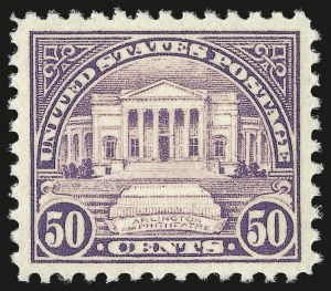 Sale Number 976, Lot Number 2152, 1922-29 Issues (Scott 551-573)50c Lilac (570), 50c Lilac (570)