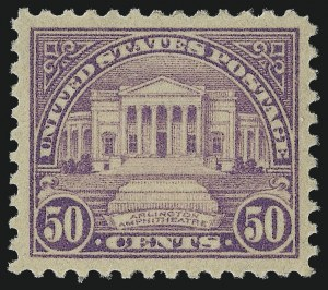 Sale Number 976, Lot Number 2153, 1922-29 Issues (Scott 551-573)50c Lilac (570), 50c Lilac (570)
