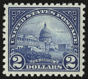 Sale Number 976, Lot Number 2158, 1922-29 Issues (Scott 551-573)$2.00 Deep Blue (572), $2.00 Deep Blue (572)