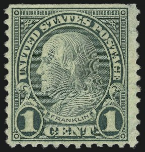 Sale Number 976, Lot Number 2170, 1922-29 Issues (Scott 574-657a, including Scott 613)1c Green, Rotary, Perf 11 (594), 1c Green, Rotary, Perf 11 (594)