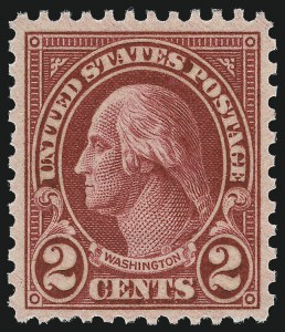 Sale Number 976, Lot Number 2185, 1922-29 Issues (Scott 574-657a, including Scott 613)2c Carmine, Ty. II (634A), 2c Carmine, Ty. II (634A)