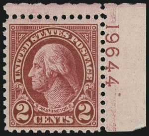 Sale Number 976, Lot Number 2188, 1922-29 Issues (Scott 574-657a, including Scott 613)2c Carmine, Ty. II (634A), 2c Carmine, Ty. II (634A)