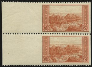 Sale Number 976, Lot Number 2205, Later Issues, including CIA Invert2c Grand Canyon, Horizontal Pair, Imperforate Vertically (741b), 2c Grand Canyon, Horizontal Pair, Imperforate Vertically (741b)