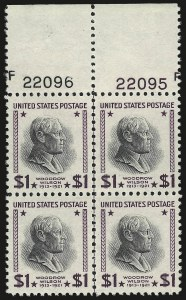 Sale Number 976, Lot Number 2206, Later Issues, including CIA Invert$1.00 Presidential, USIR Wmk. (832b), $1.00 Presidential, USIR Wmk. (832b)