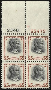 Sale Number 976, Lot Number 2207, Later Issues, including CIA Invert$2.00, $5.00 Presidential (833-834), $2.00, $5.00 Presidential (833-834)