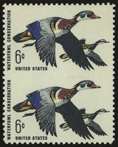 Sale Number 976, Lot Number 2208, Later Issues, including CIA Invert6c Waterfowl, Imperforate Between (1362a), 6c Waterfowl, Imperforate Between (1362a)