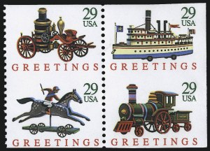 Sale Number 976, Lot Number 2213, Later Issues, including CIA InvertChristmas Toys, Booklet Pane, Imperforate Horizontally (2718a var), Christmas Toys, Booklet Pane, Imperforate Horizontally (2718a var)