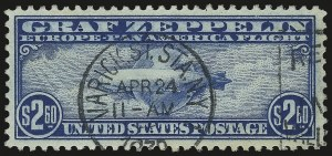 Sale Number 976, Lot Number 2250, Air Post Graf Zeppelin Issue (Scott C13-C15)$2.60 Graf Zeppelin (C15), $2.60 Graf Zeppelin (C15)