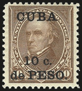Sale Number 976, Lot Number 2395, CubaCUBA, 1900, 10c on 10c Brown, Ty. II (226A), CUBA, 1900, 10c on 10c Brown, Ty. II (226A)